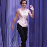 Emma Watson at Jimmy Fallon Show in NYC