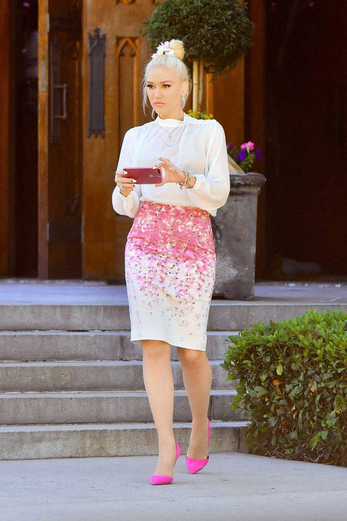 Gwen Stefani at Church in Los Angeles-1