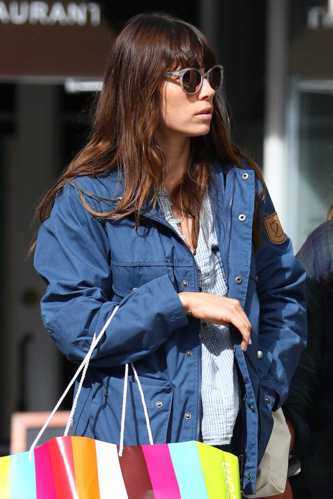 Jessica Biel Out Shopping in New York-3