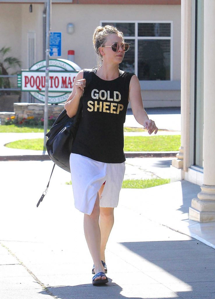 Kaley Cuoco Leaves the Gym in Beverly Hills-3