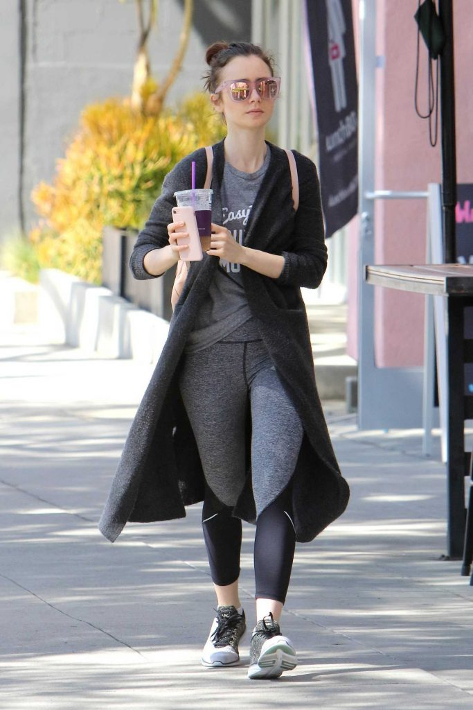 Lily Collins Leaves the Gym in West Hollywood-1