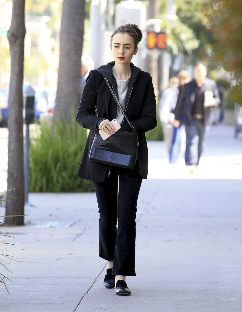 Lily Collins Was Spotted Out in Beverly Hills-1