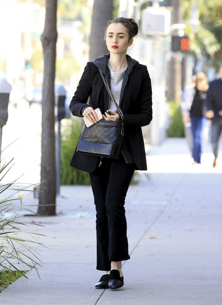 Lily Collins Was Spotted Out in Beverly Hills-2