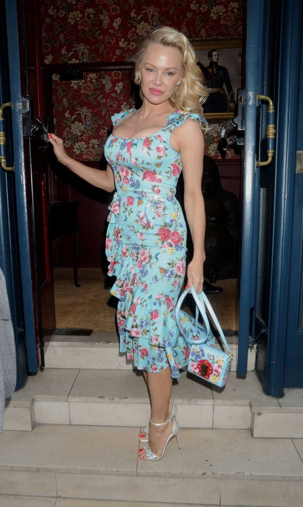 Pamela Anderson at the Coco de Mer: Icons Collection Launch Party in London-2