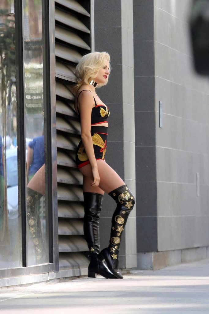 Pixie Lott on the Set of Her New Music Video in Los Angeles-2