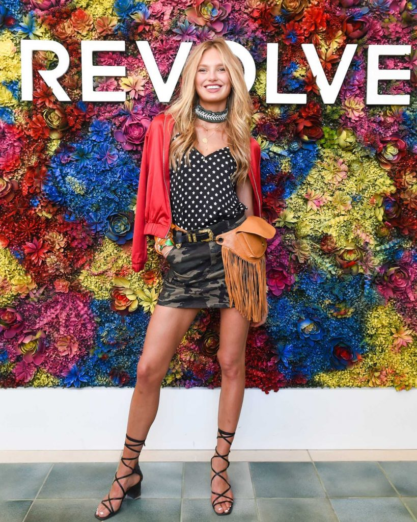 Romee Strijd Attends the REVOLVE Desert House During the Coachella Valley Music and Arts Festival in Palm Springs-1
