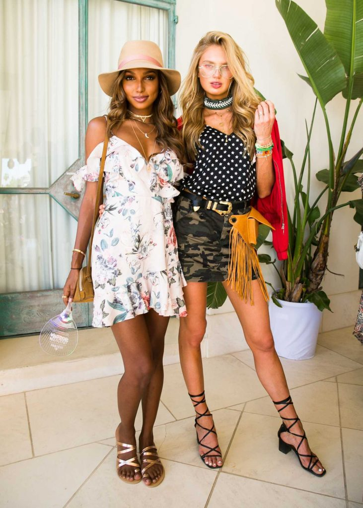 Romee Strijd Attends the REVOLVE Desert House During the Coachella Valley Music and Arts Festival in Palm Springs-3