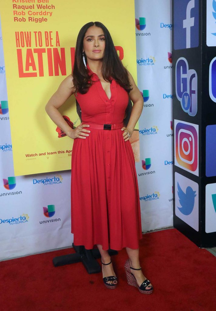 Salma Hayek at Despierta America TV Show in Miami-1