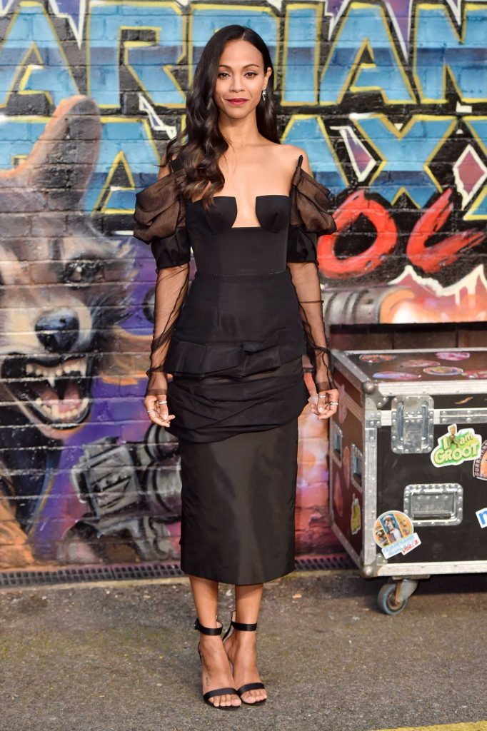Zoe Saldana at the Guardians of the Galaxy Vol.2 Premiere in London-1