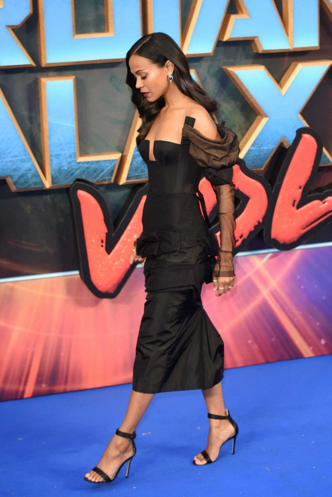 Zoe Saldana at the Guardians of the Galaxy Vol.2 Premiere in London-3