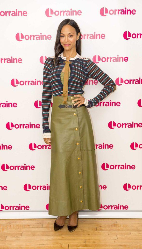 Zoe Saldana on Lorraine TV Show in London-1