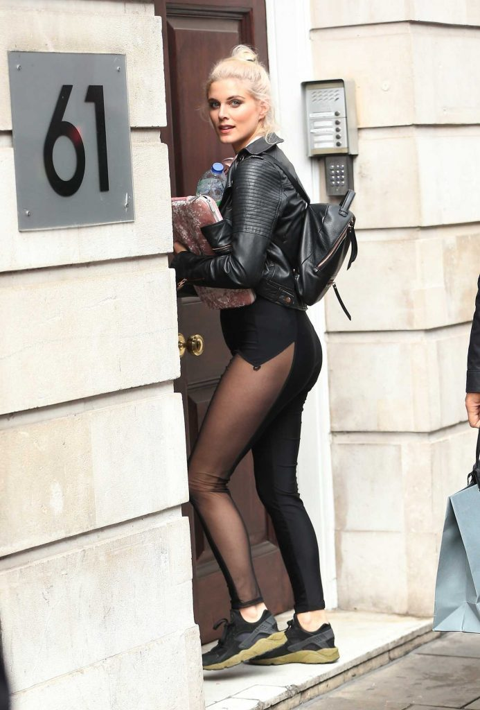 Ashley James Arrives at Hoxton Radio in London-5