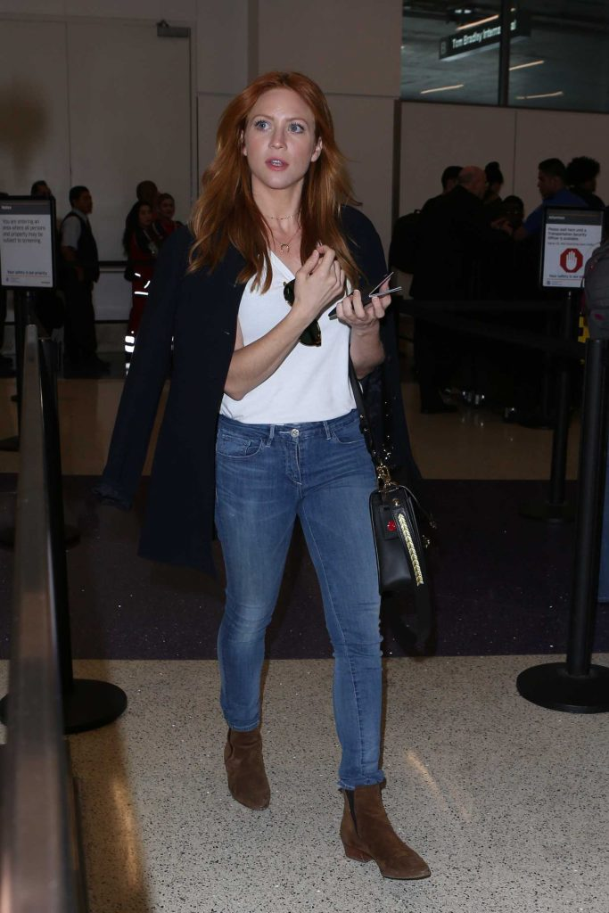 Brittany Snow Arrives at LAX Airport in LA-1