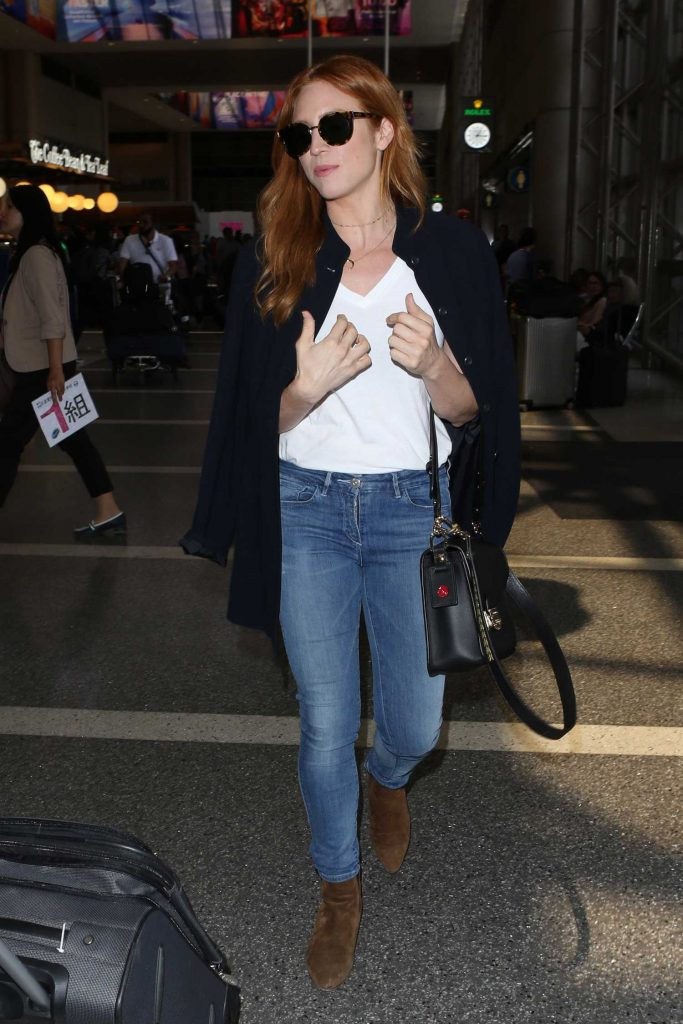 Brittany Snow Arrives at LAX Airport in LA-2