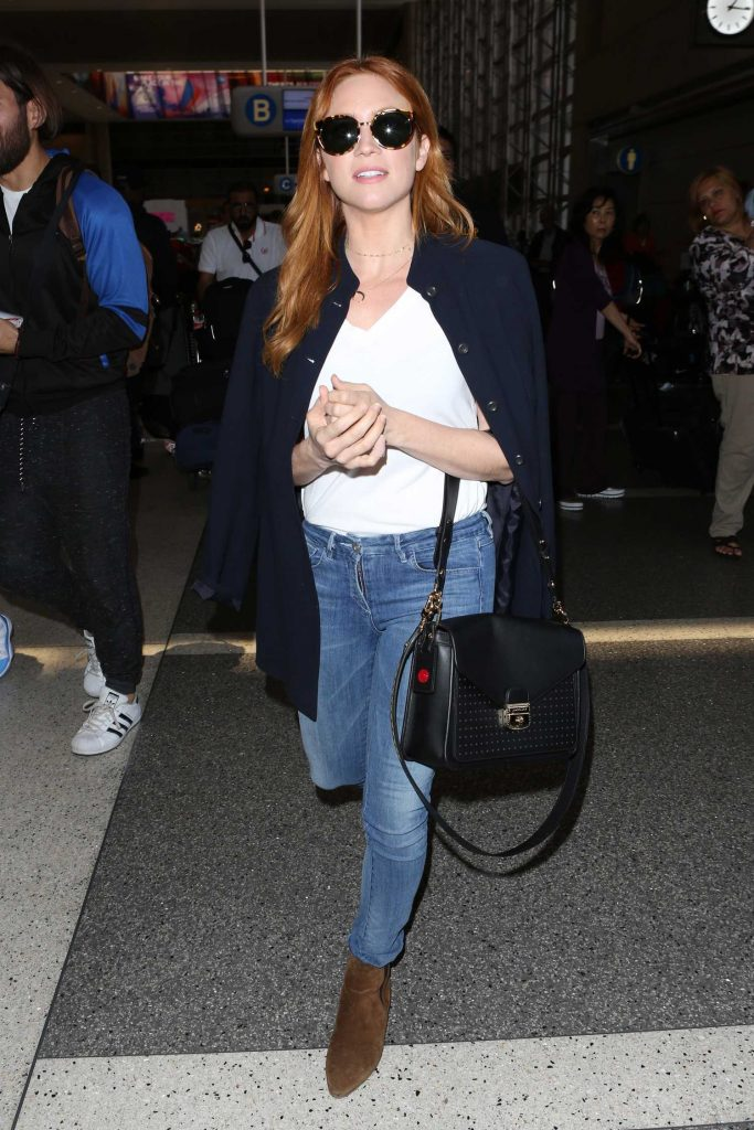 Brittany Snow Arrives at LAX Airport in LA-3