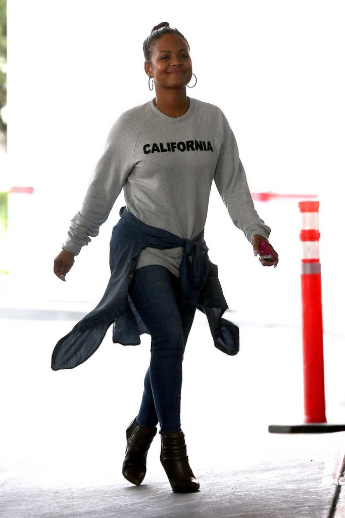 Christina Milian at a Gas Station in Beverly Hills-1
