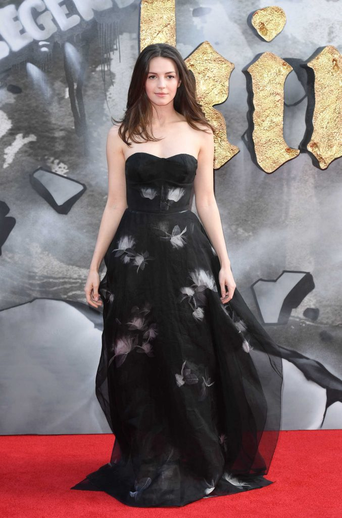 Ella Hunt at the King Arthur: Legend of the Sword Premiere in London-4