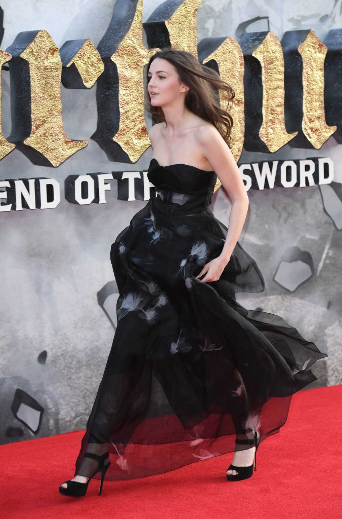 Ella Hunt at the King Arthur: Legend of the Sword Premiere in London-5