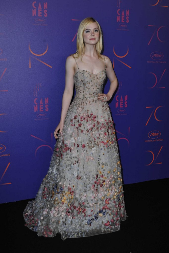 Elle Fanning at the 70th Anniversary Dinner During the 70th Cannes Film Festival-1