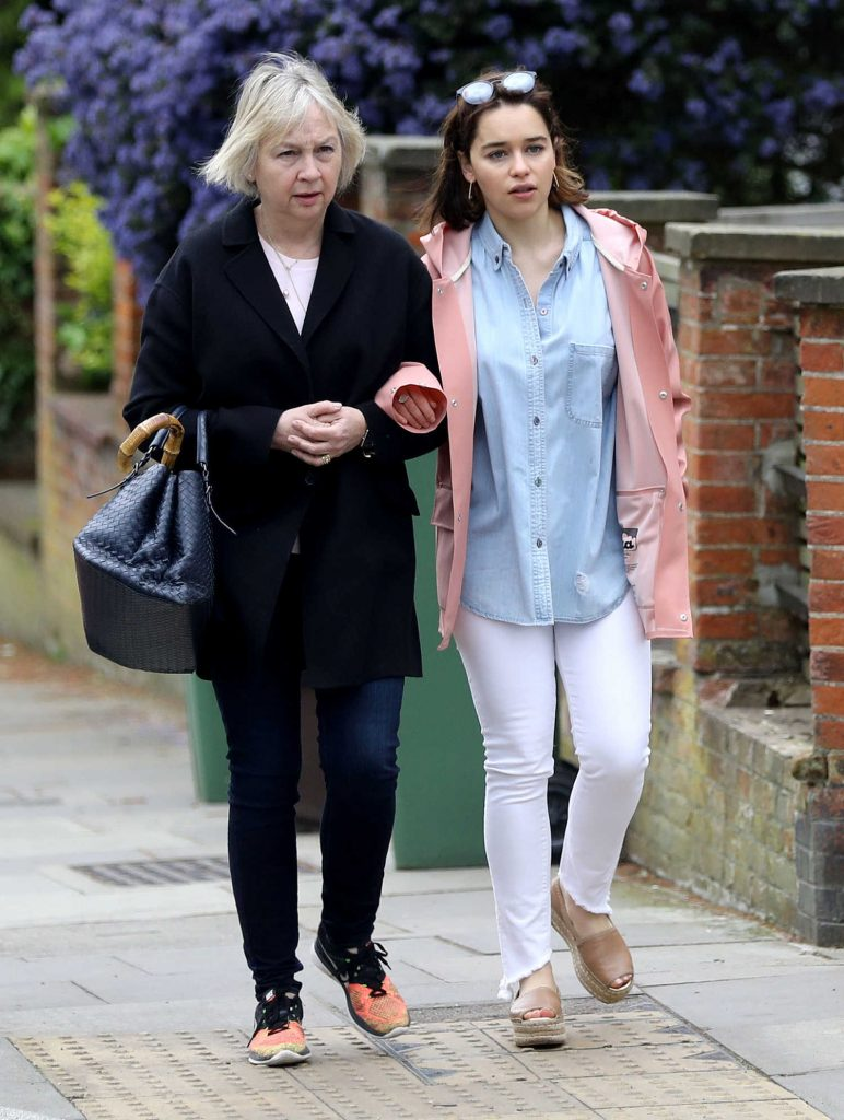Emilia Clarke Was Spotted With Her Mother Jennifer Clarke in London-3