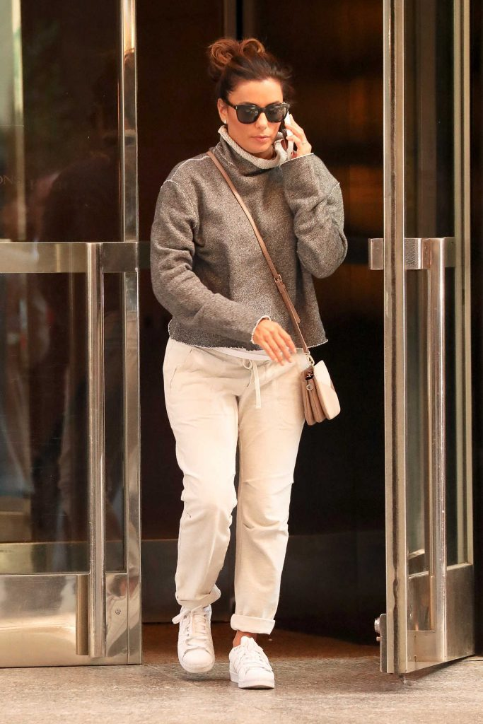 Eva Longoria Leaves Her Hotel in New York-1
