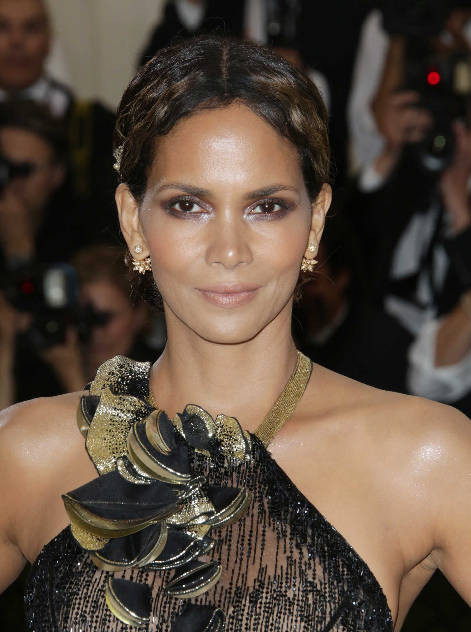 Halle Berry at the 2017 Met Gala at The Metropolitan ... Halle Berry