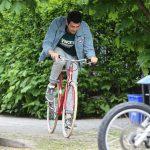 Hayden Christensen Heads Out for a Bike Ride in Toronto