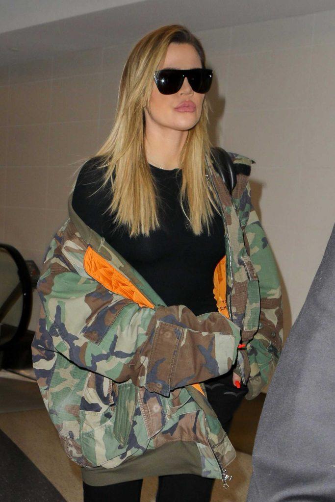 Khloe Kardashian at LAX Airport in LA-1