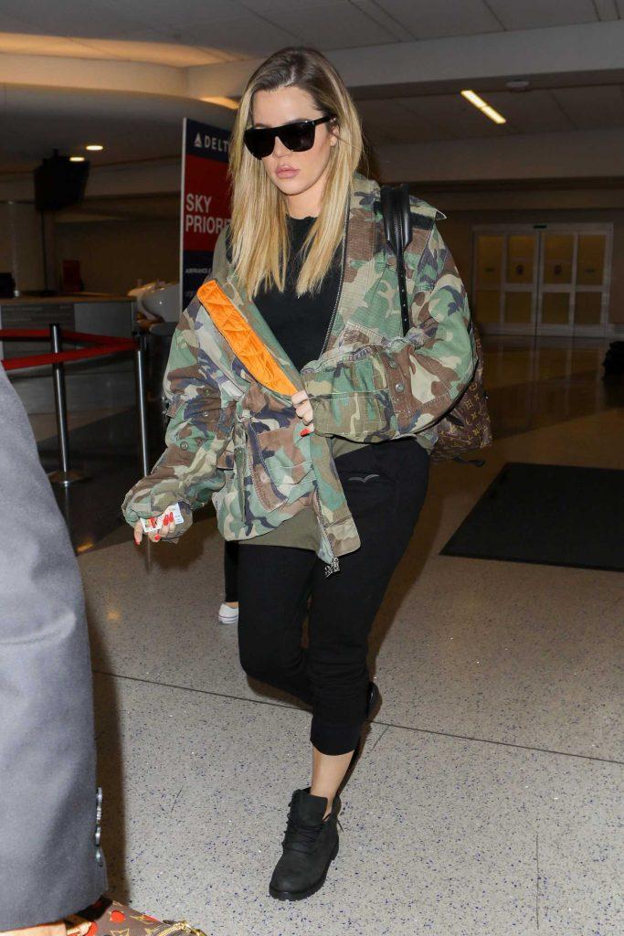 Khloe Kardashian at LAX Airport in LA-2