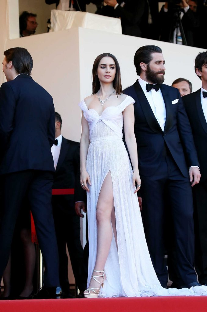 Lily Collins at Okja Premiere During the 70th Cannes Film Festival-1