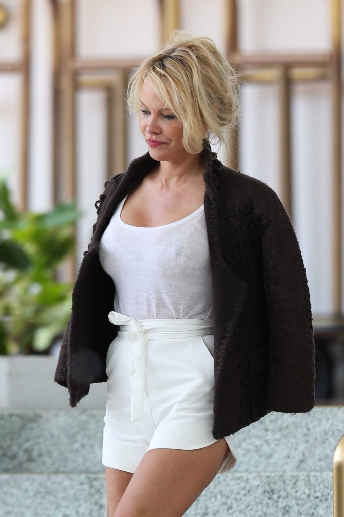 Pamela Anderson Leaves Her Hotel in Miami-4