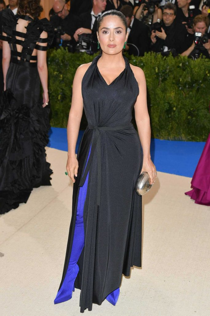 Salma Hayek at the 2017 Met Gala at The Metropolitan Museum of Art in New York-1