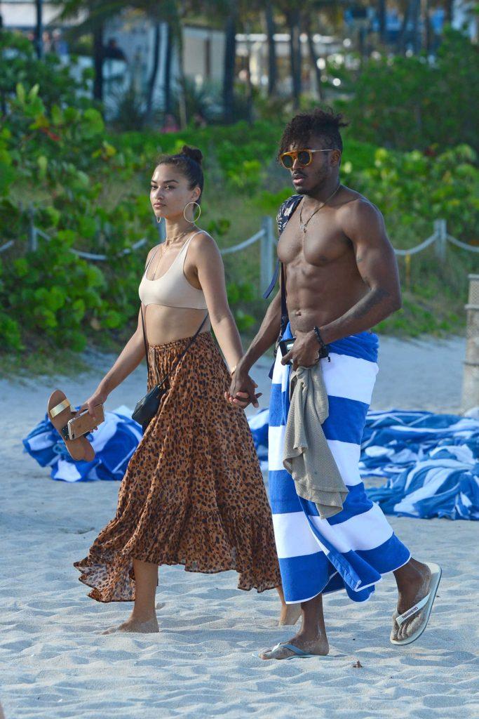 Shanina Shaik at the Beach in Miami-4
