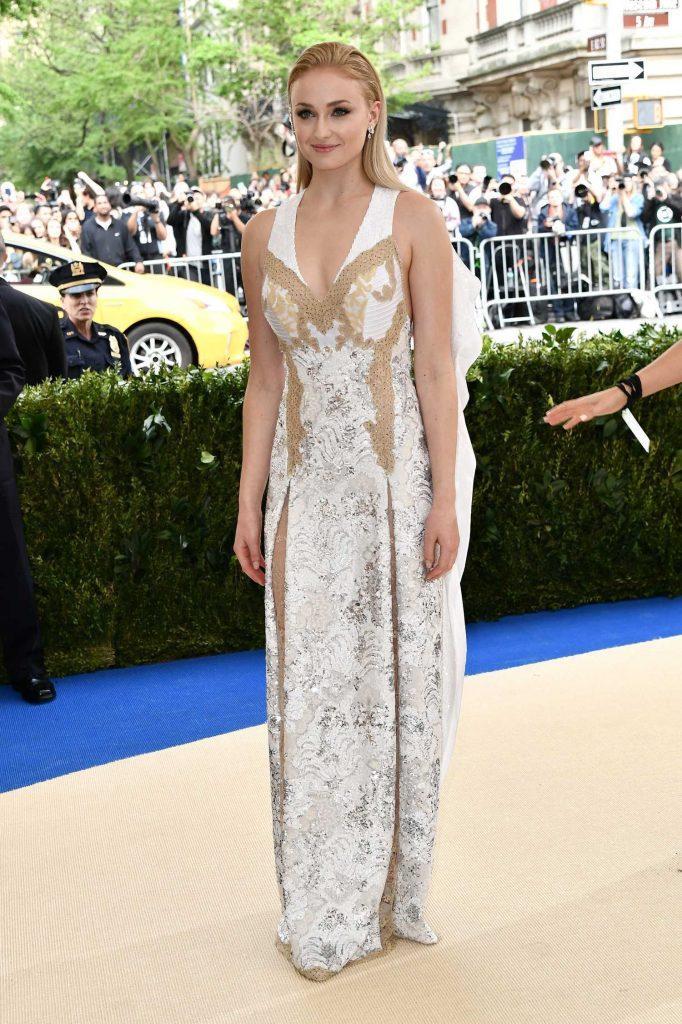 Sophie Turner at the 2017 Met Gala at The Metropolitan Museum of Art in New York-1