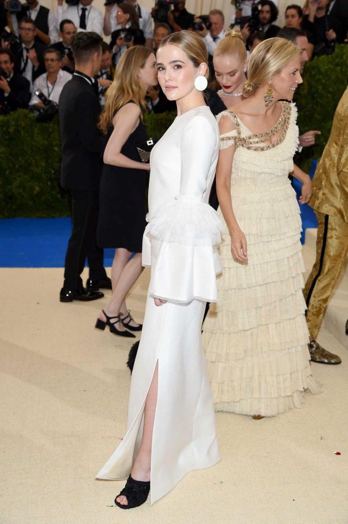 Zoey Deutch at the 2017 Met Gala at The Metropolitan Museum of Art in New York-3