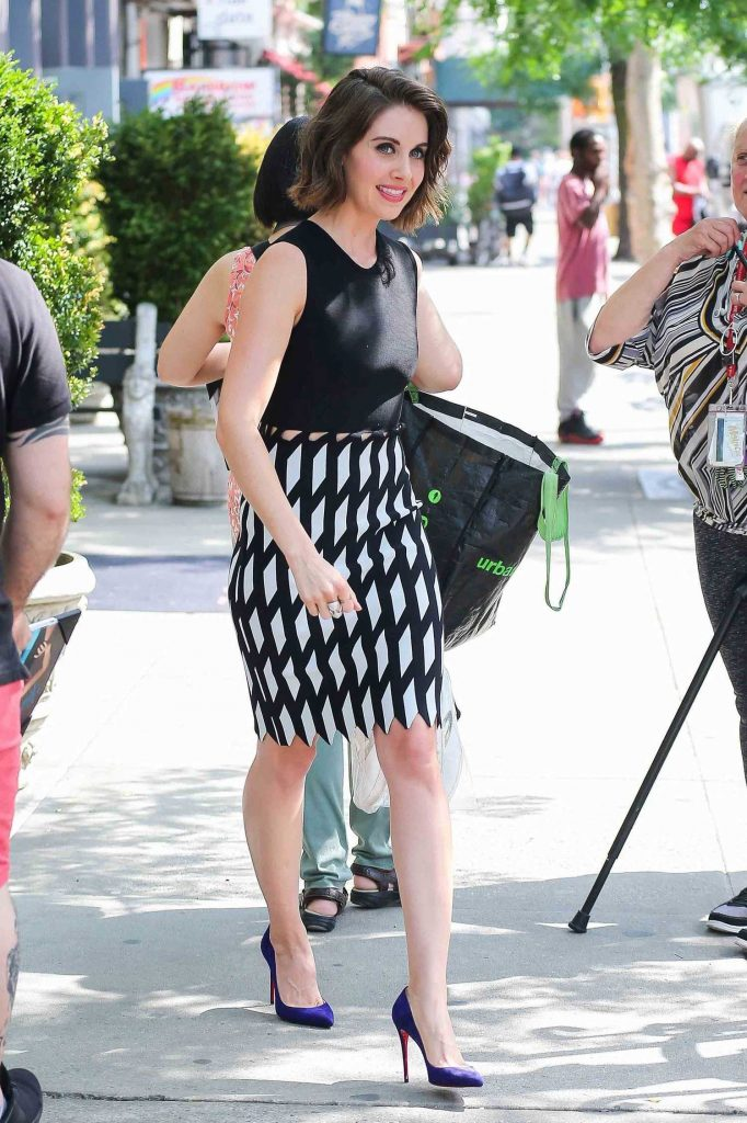 Alison Brie Leaves Her Hotel in New York-1