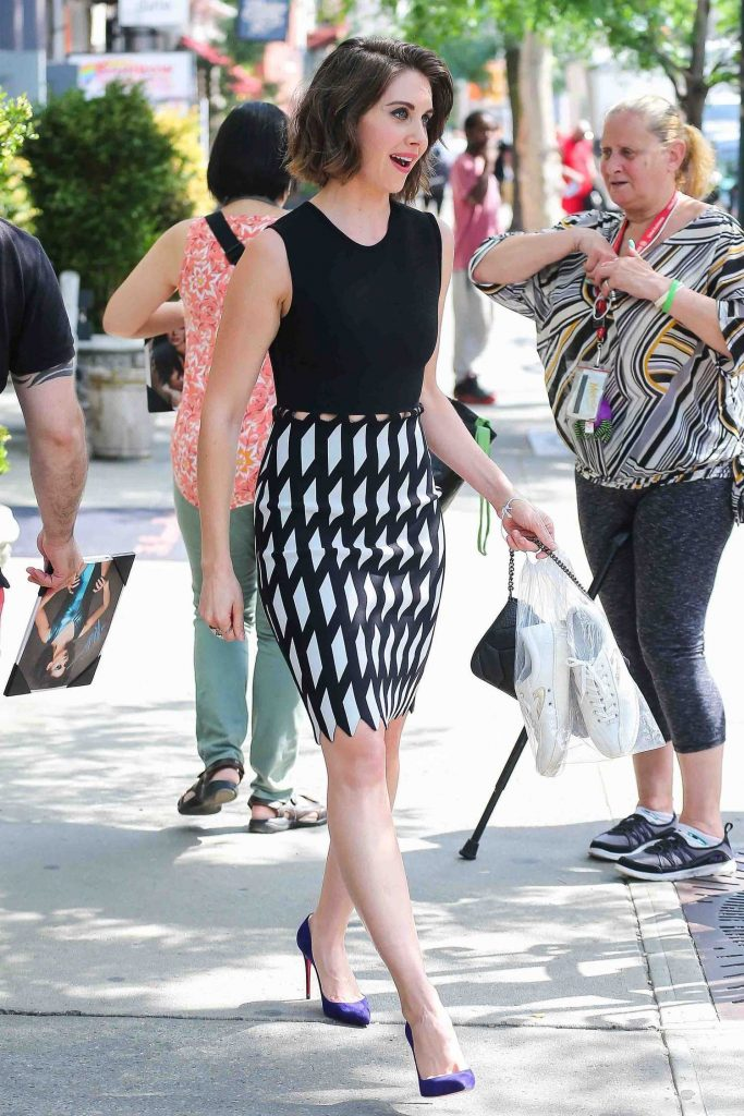 Alison Brie Leaves Her Hotel in New York-2