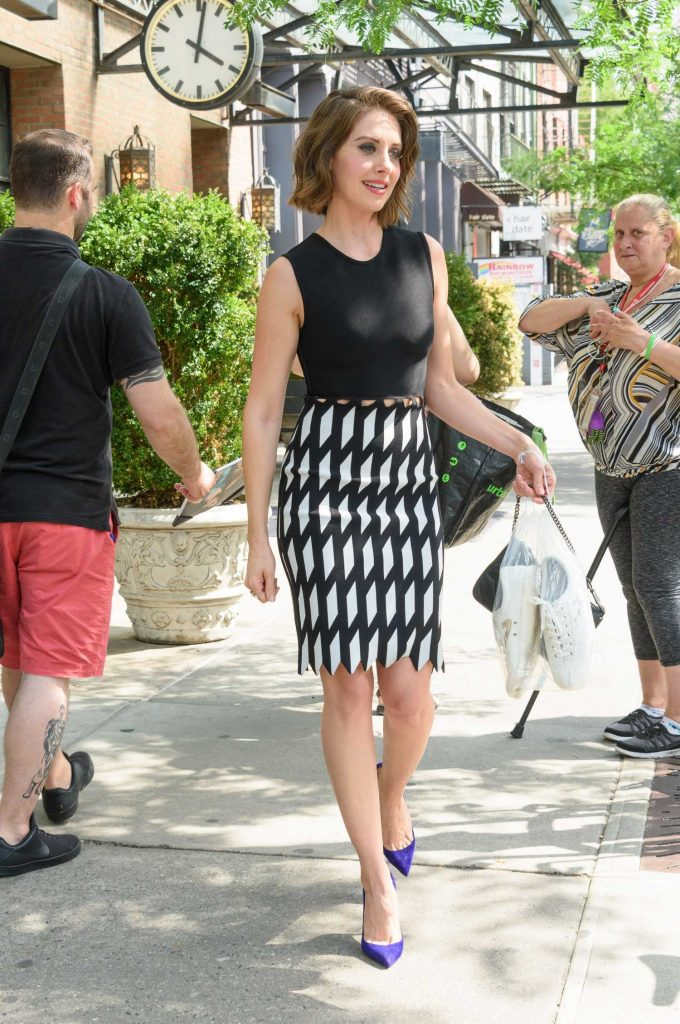Alison Brie Leaves Her Hotel in New York-3
