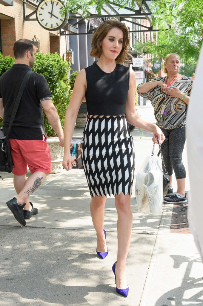 Alison Brie Leaves Her Hotel in New York-4