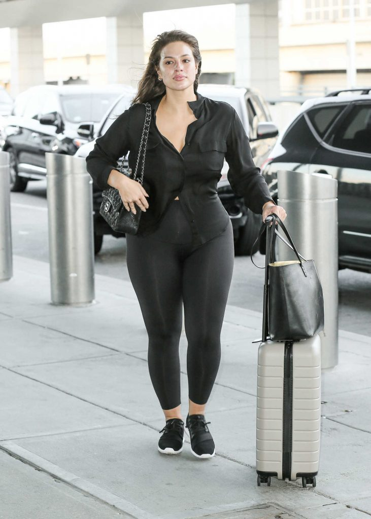 Ashley Graham Was Seen at JFK Airport in New York City-1