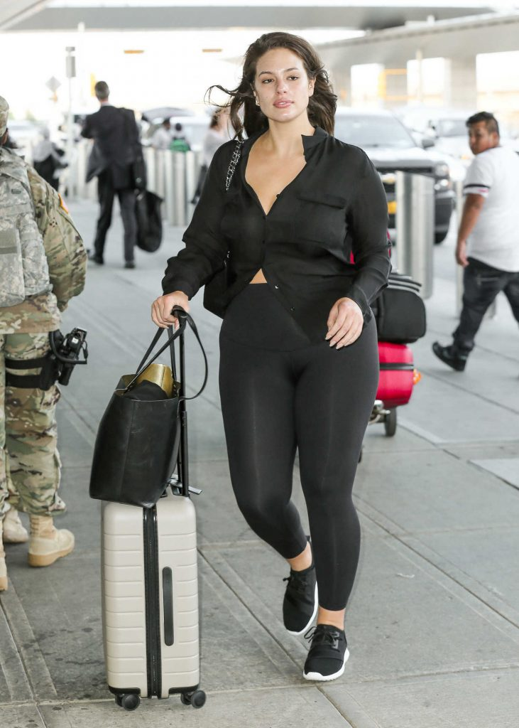 Ashley Graham Was Seen at JFK Airport in New York City-3
