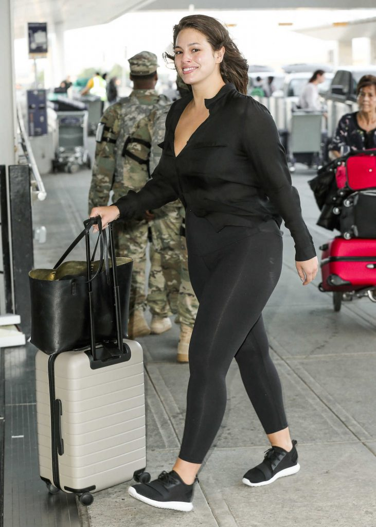 Ashley Graham Was Seen at JFK Airport in New York City-5