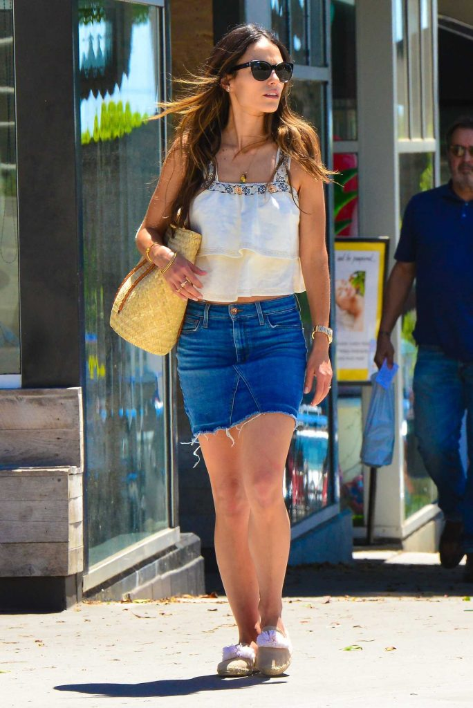 Jordana Brewster Wears a Mini Skirt Out in Santa Monica-2