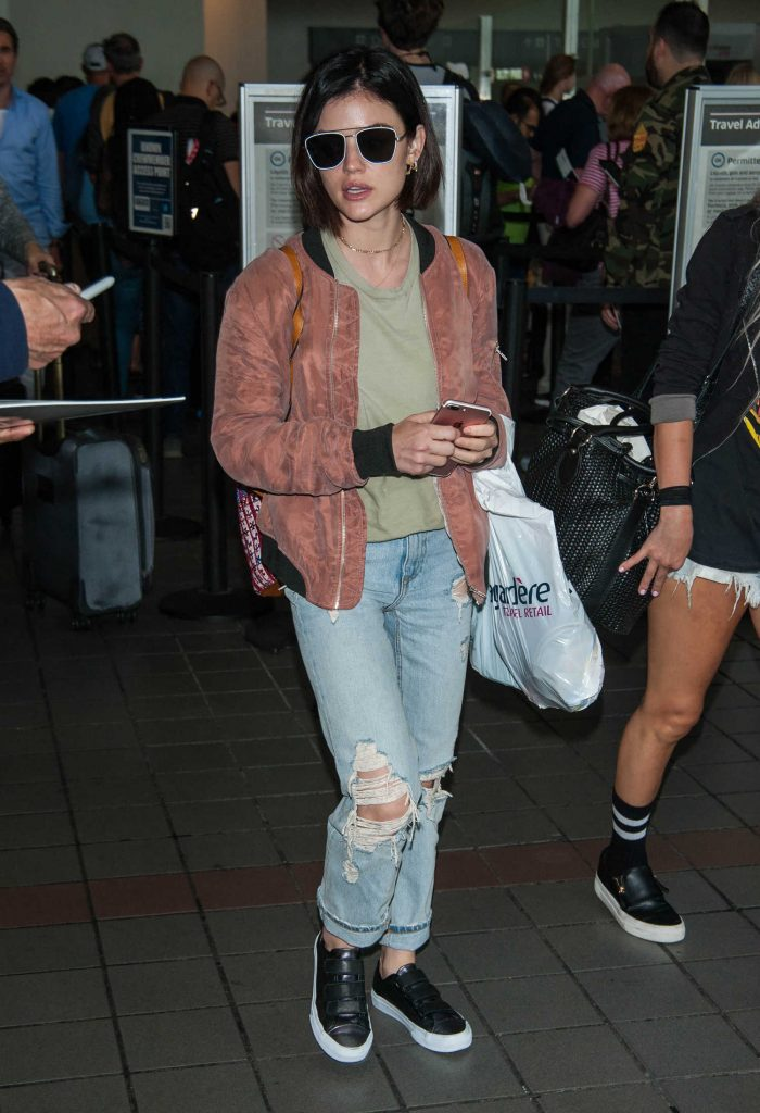 Lucy Hale at LAX Airport in LA-1