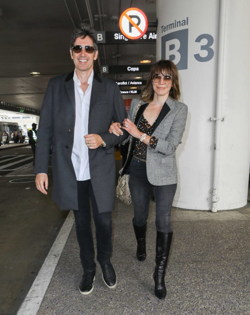 Milla Jovovich at LAX Airport in LA-1