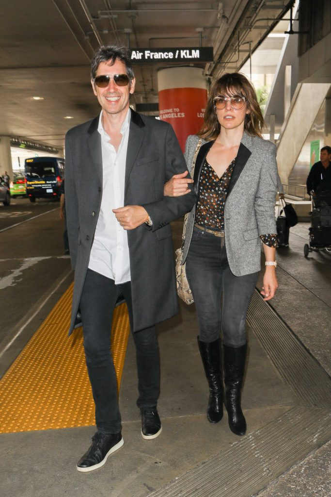 Milla Jovovich at LAX Airport in LA-2