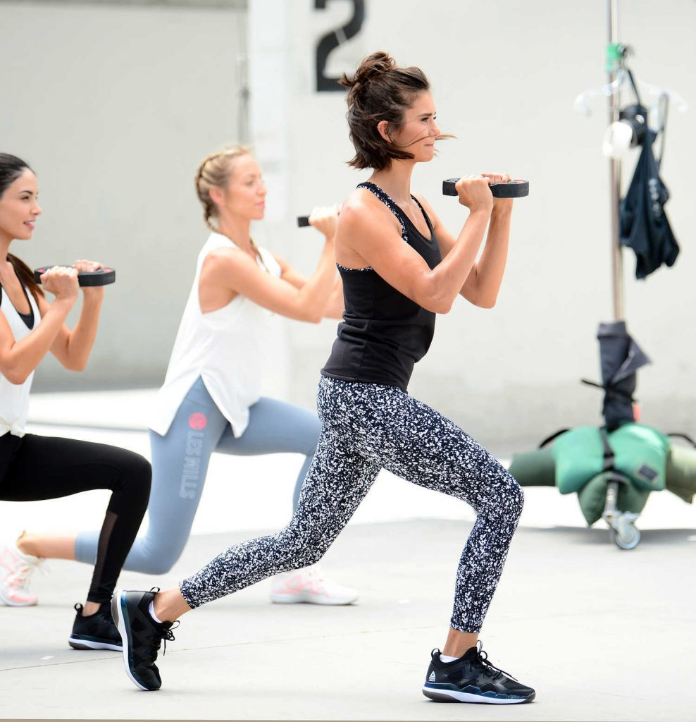 Nina Dobrev Shoots a Video for New Reebok Fitness Clothing Line in Venice-2