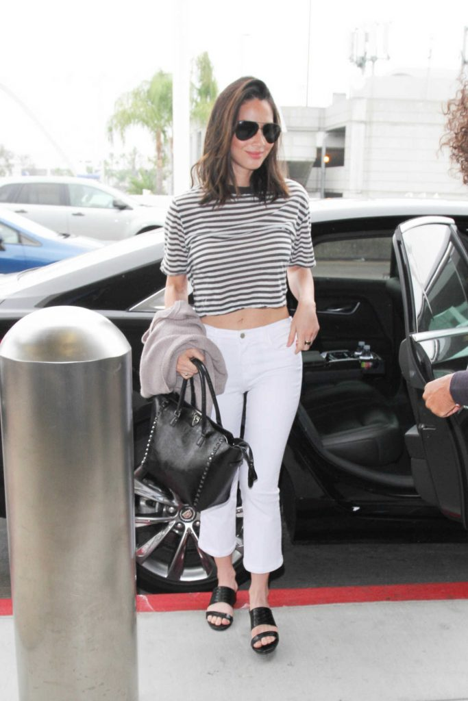 Olivia Munn at LAX Airport in LA-1