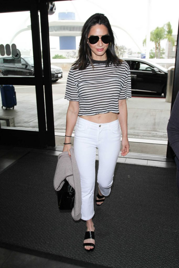 Olivia Munn at LAX Airport in LA-3