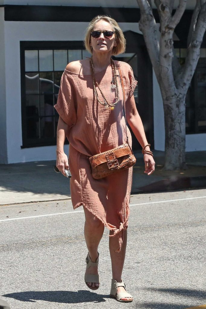 Sharon Stone Was Spotted Out in Beverly Hills-1